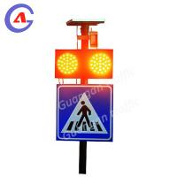 Intelligent Solar Infrared Sensor Zebra Crossing Warning Light