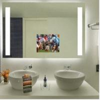 Glossy mirror with LED lighted source