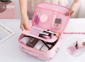 China Web celebrity makeup bag girl small portable travel storage bag and cosmetic box with large capacity on sale