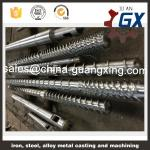 bimetallic plastic extruder screw and barrel for pvc extruder and pipe extruder