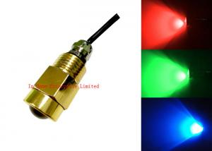 China High Lumen Brass Drain Plug Copper Boat Underwater LED Lights With CREE Chips 9W on sale
