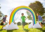 Summer Home Backyard Waves Inflatable Rainbow Arch Sprinkler For Kids