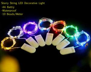 China Starry Fairy Copper String LED light AA Battery Party Waterproof Wrap Wire Decorative lamp TL107 on sale