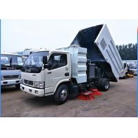 Dongfeng 4x2 Road Sweeper Truck 4cbm 6 Wheels With Brush Humanized Operation
