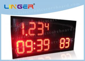 China Semi - Outdoor LED Digital Clock With Time / Temperature Function 15kgs on sale