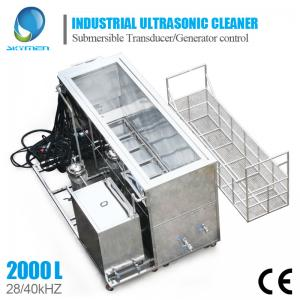 China Large Industrial Ultrasonic Cleaning Machine For Engine Block Car Parts Cleaning on sale