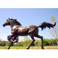 China Casting Finish Life Size Large Running Bronze Horse Sculpture on sale