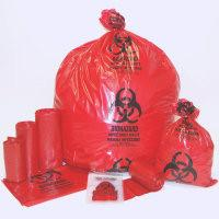 China BIOHAZARD BAGS, AUTOCLAVABLE BAGS, RED BAG, YELLOW BAG, BLUE BAG, BLACK BAG, MEDICAL WASTE on sale