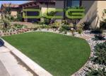 Yarn Soft Artificial Grass For Yards 160 Stitches Environment Friendly Material