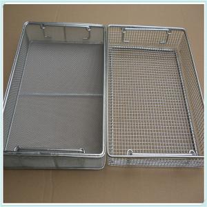 China Supply Medical 304 316 Stainless Steel Disinfecting Metal Baskets, disinfection medical basket on sale