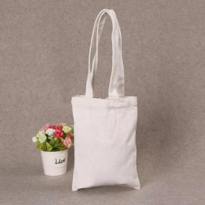 China Printed Shopping Cotton Canvas Bag , Custom Logo White Cotton Tote Bag on sale
