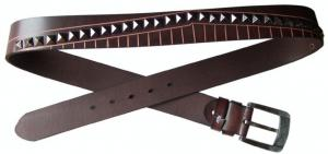 China genuine leather rivet belts for men and woman on sale