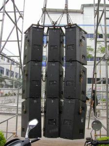 China Line Array Speaker Upright Truss / Customized Heavy Duty Truss 520x1000 mm on sale