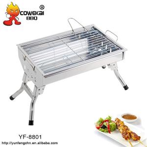 China Short leg portable stainless steel Barbecue Grill on sale