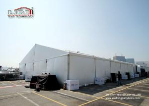 China Block Out Roof PVC Wall Cover 40m Clear Span Marquee Tent For Exhibition on sale