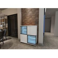 Blue LED Light Modern Sideboard Cabinet with Glass and High Gloss Door