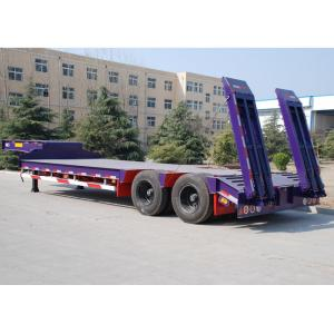 China CIMC 80 T lowboy trailer transport engine low bed trailer for heavy duty semi trailers transportation on sale