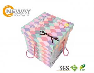 China Modern Decorative Paper Boxes / Flower Shipping Boxes With Art Paper For Party on sale
