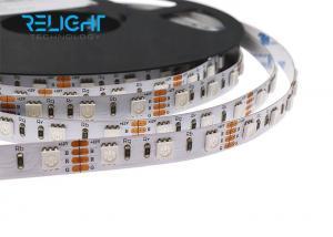 China Low Voltage 12V/24V Digital rgb led strip 14.4W 5050 RGB LED Strip 60leds/m on sale