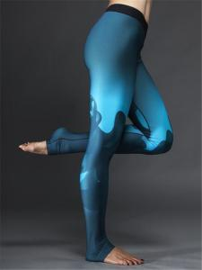 China Sex Long Women Wearing Yoga Pants in Polyester Spendex Material on sale