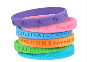 China Translucent Rubber Bracelets Custom Silicon Wristbands Bulk Personalized on sale