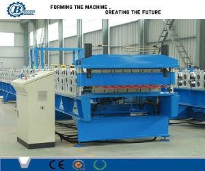 China Custom Metal Roof Panel Double Layer Roll Forming Machine , Roof Tile Making Machine on sale