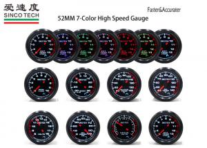 China Digital Automotive Tachometer LED Display 2 Inch 52mm PM Stepper Motor Gauges on sale