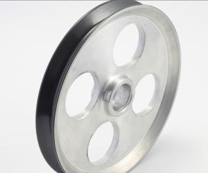 China Fine Polish ceramic pulley wheels / aluminium pulley wheels WC Cermet on sale