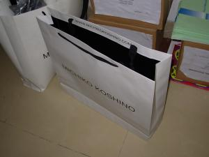 China Carrier Paper Bags with PP rope handles, paper bag, paper sack, gift bag, shopping bag on sale