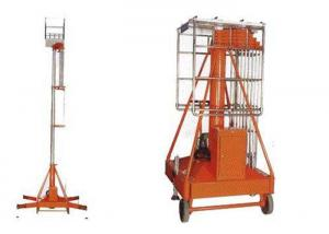 China Sleeve Cylinder Type Hydraulic Aerial Work Platform Four Posts For Building on sale