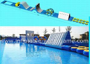China Blue White Outdoor Inflatable Water Park For Lake , Inflatable Water Trampoline on sale