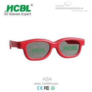 China Fashional Kid Red 3D Glasses Compatible for DepthQ / X-mirrow 3D Theater on sale