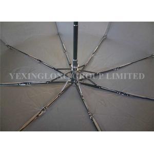 China Durable Automatic Open And Close Compact Umbrella , Push Button Umbrella Flip Proof on sale