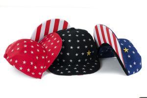 China Flat Visor Snapback Baseball Caps With USA Stars Strips Patterns Adjustable Sizes on sale