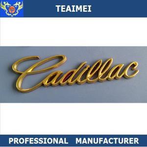 China Chrome Body Custom Car Emblems Auto Badges Emblems For Cadillac on sale