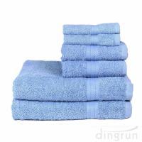 100% Cotton 6 Piece Absorbent Towel Set Bath Towel Hand Towel Wash Towel
