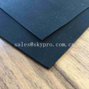 China Anti - Aging Black Smooth Rubberized Cloth Waterproof Rubber Fabric for Boat Raincoat on sale