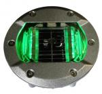 6LED Solar Road Stud with green steady light for roadway safety