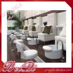 luxury white leather king chair manicure and pedicure furniture spa chair leather cover