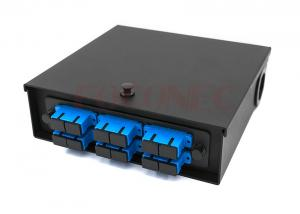 China Fiber Optic Wall Mount Enclosure , SC 12 Port Wall Mounted Termination Box on sale