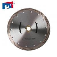 Turbo Diamond Concrete Cutter Blade 65Mn / 30Crmo For Cutting Marble Granite