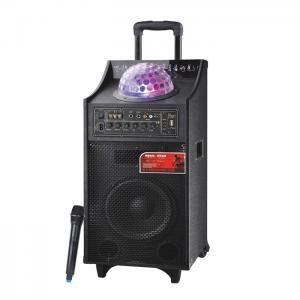 China 40 Watt Black Battery PA Speaker Bluetooth Disco Light Speaker For Outdoor Party on sale