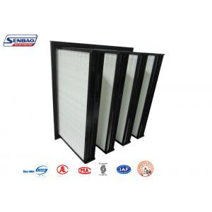 China Air Conditioning System V Bank Filters Mini Pleated Fiberglass Micron on sale