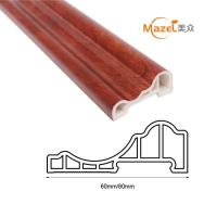 China wood grain pvc laminate flooring skirting on sale