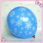 12 inch 3.2g latex balloon 5 side all around Christmas printing for party decoration