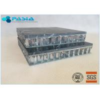 Fuding Black Basalt Type Honeycomb Stone Panels With Edge Open Flamed Surface