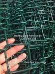 3.0mm - 4.76mm PVC Coated Galvanized Chain Link Fence Security For Agriculature Anti Corrossion