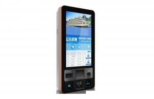 China Wall Mounted Self Ordering Kiosk 32 Inch Bank Card Reader For Restaurant on sale