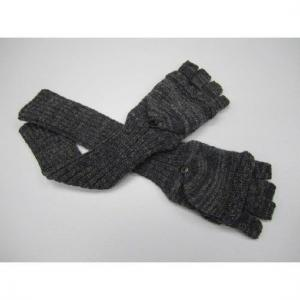 China Customized comfortable Acrylic + Wool Knitted Arm Warmers Fingerless Gloves For Girls on sale