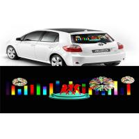 Car Music Rhythm Lamp , Advertising Poster EL Car Sticker With Low Power Consumption